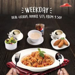 [Pizza Hut Singapore] Best part of our Deal-icious Dinner: a Free Side & Drink to complete your meal, from only $9.