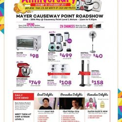[MAYER] Mayer Roadshow @ Causeway Point Atrium Level 1 22th May to 28th May 2017 11am to 9.