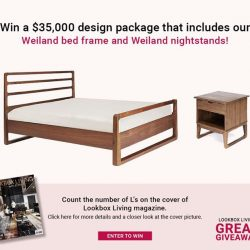 [Commune] Our Weiland bed frame and night stands are part of the Lookbox Living $35,000 design package giveaway!