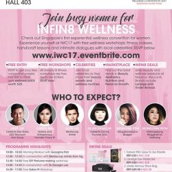 [DrGL] DrGL , DrSpa and DrHair will be part of the Infin8 Wellness Convention on Sunday, May 28 at Suntec Convention, Hall