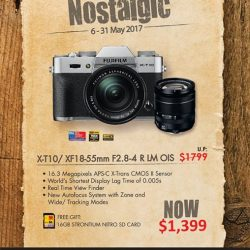 [FUJIFILM] Feeling Nostalgic- we are pleased to roll out a promotion for XT-10 XF18-55mm F2.