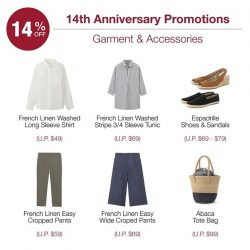[MUJI Singapore] Enjoy shopping your favourite Linen items at 14% off this weekend!