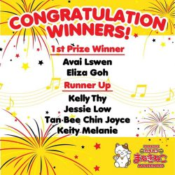 [Manekineko Karaoke Singapore] Thank you for your participation in 1 Year Anniversary MANEKINEKO Marina Square & Safra Punggol iPad giveaway contest!