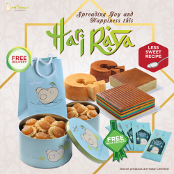 [Mr Bean Singapore] Nothing spells Hari Raya like a festive spread of delectable goodies such as Lapis Cake and Pineapple Tarts.