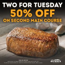 [Outback Steakhouse ] Two is always better than one.
