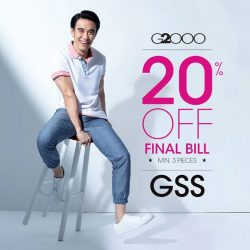 [G2000 Outlet] Get 20% off your final bill when you purchase at least 3 items at our Suntec City pop-up store!