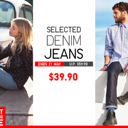 [Uniqlo Singapore] A good pair of well-cut jeans can be endlessly mixed and matched for different looks.