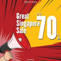[City Chain Primo] GREAT SINGAPORE SALE: Deals, steals and more unbelievable bargains await you during City Chain Singapore's Great Singapore Sale!