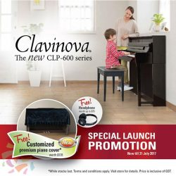 [YAMAHA MUSIC SQUARE] Receive a Free headphone & a customized premium piano cover when you purchase any of the new CLP-600 Series today!