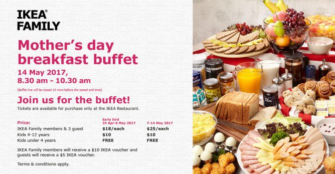 Ikea Singapore Mother S Day Breakfast Buffet 14 May 2017