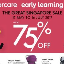 Mothercare: Great Singapore Sale with up to 75% OFF