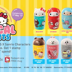 7-Eleven: Collect all 10 LINE FRIENDS X Sanrio Characters Ceramic Mug Designs!
