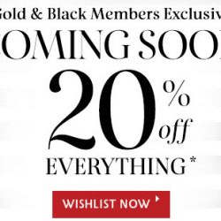 Sephora Singapore: Private Sale 2017 with 20% OFF in Stores & Online for Black & Gold Members