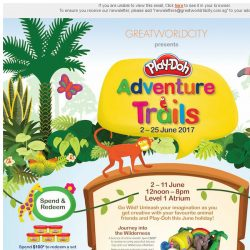 [Great World City]  Great World City presents Play-Doh Adventure Trails (2 - 25 June 2017)