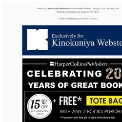 [Books Kinokuniya]  Promotions Exclusively for Singapore Webstore! Plus up to 30% Off* Featured Titles!