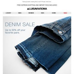 [LUISAVIAROMA] Get Down With Denim: Up to 50% off