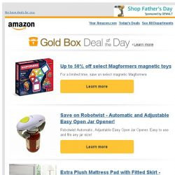 [Amazon] Up to 50% off select Magformers magnetic toys