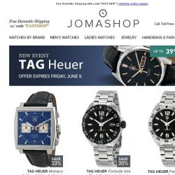 [Jomashop] TAG Heuer • Hublot • Bell & Ross • Diesel • Heritor Automatic
