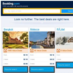 [Booking.com] Bangkok and Malacca – great last-minute deals from S$ 10