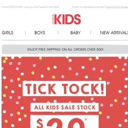 [Cotton On] TICK TOCK! All Sale stock $20 and under ends TONIGHT