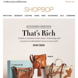 [Shopbop] We love buttery brown hues