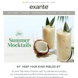 [Exante Diet] Keep Your Eyes Peeled...