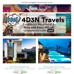[Groupon] Only 3 nights to spare? Travel.