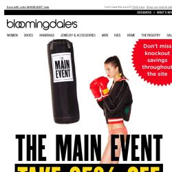 [Bloomingdales] Take 25% Off During The Main Event
