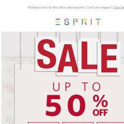 [Esprit] Save up to 50% on SALE  - or shop new workwear