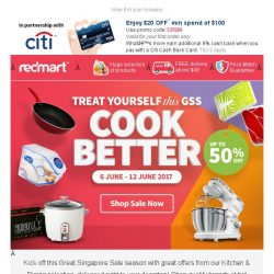 [Redmart] GSS Special - Cook better with up 50% off kitchen picks!
