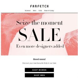 [Farfetch] Sale | Even more lines added
