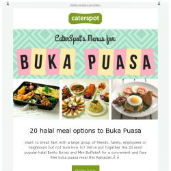 [CaterSpot] 20 halal catering options to buka puasa