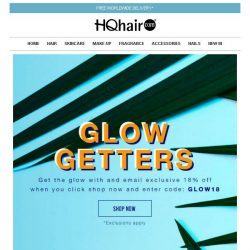 [HQhair] 18% off - Glow Getters