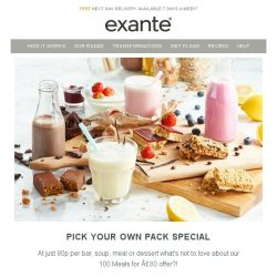 [Exante Diet] Pick your own   100 Meals for £80!