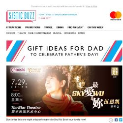 [SISTIC] SISTIC Selects: Celebrate Dad with the Gift of Entertainment this Father's Day! ❤