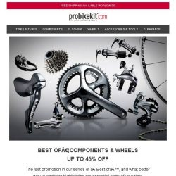 [probikekit] Up to 45% off Components & Wheels | PLUS an Extra 12% off Selected Products!