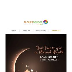 [Floweradvisor] The Power of Giving? Let's prove it in this Hari Raya