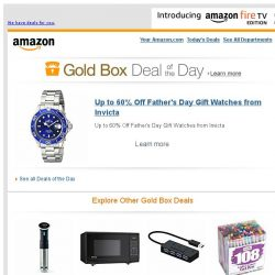 [Amazon] Up to 60% Off Father's Day Gift Watches from...