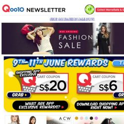 [Qoo10] Your Exclusive $20 Coupon is Finally Here! Your Chance to Shop till You Drop!