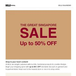 [Muji] MUJI Great Singapore Sale is here!