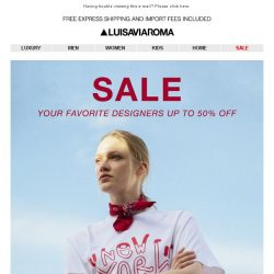 [LUISAVIAROMA] SALE: Dsquared2, Balmain, Dolce & Gabbana and more..