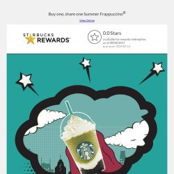 [Starbucks] Sip and savor with a 1-for-1 treat