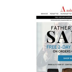 [Ashford] Father's Day Sale! Free 2 Day Shipping On All Orders Over $99