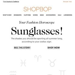 [Shopbop] The best sunglasses for your zodiac sign