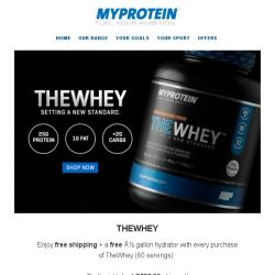 [MyProtein] THEWHEY: Just S$86.99 shipped and a free gift too...