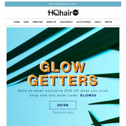 [HQhair] 20% off - Glow Getters