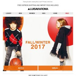 [LUISAVIAROMA] New In: Kids Fall/Winter 2017