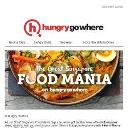 [HungryGoWhere] HungryGoWhere Exclusives: 1-for-1 Mains, 50% Off 2nd Set Lunch/Dinner, 15% Off Total Bill & more!