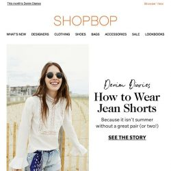 [Shopbop] How to look good in jean shorts