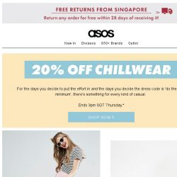 [ASOS] Just a casual 20% off